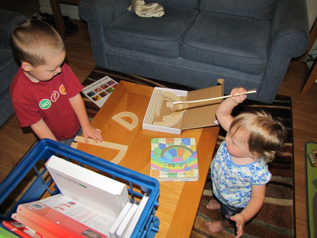 our kids doing homeschool