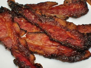"""BACON!!! Crispy bacon! The """"bread-and-butter"""" of a high-fat diet"""