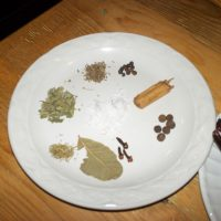 plate of spices for cooking Mexican food