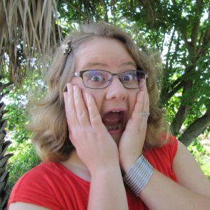 Stephanie looking surprised