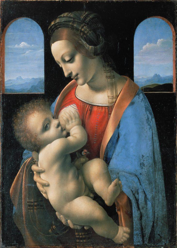 Mary with Jesus nursing