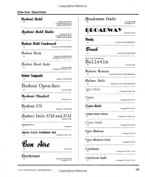 The Type Specimen Book Sample Page